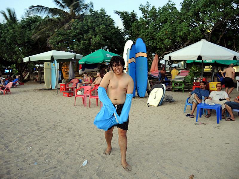 surfing in Kuta Beach Bali