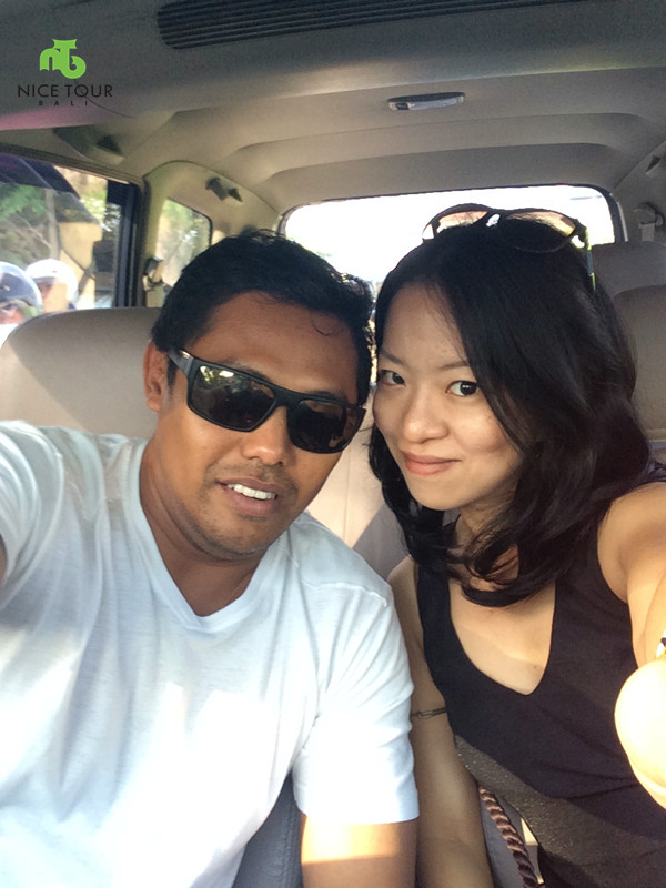 budi and angie in car