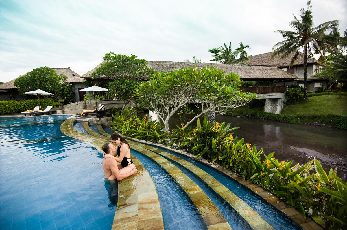 Main Pool at Santi Mandala Villa Ubud