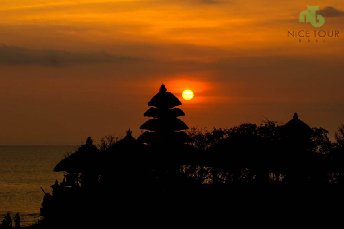 Sunset View at Tanah Lot Temple