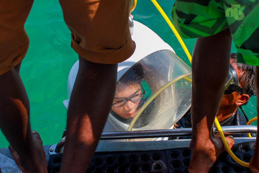 Seawalker Activities at Tanjung Benoa Beach