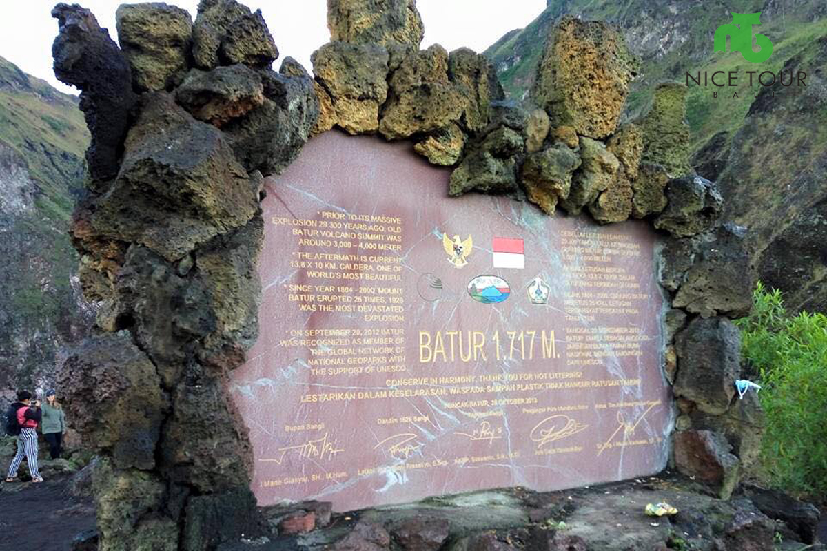 On the top of Mount Batur
