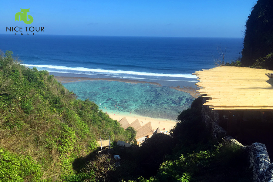 inclinator to go Karma Beach from top